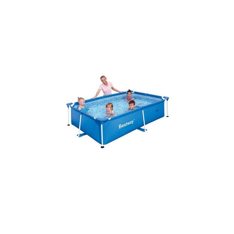 Piscine hors sol tubulaire rectangulaire bestway for Piscine tubulaire bestway