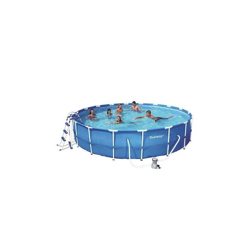 Piscine hors sol tubulaire ronde bestway for Piscine tubulaire