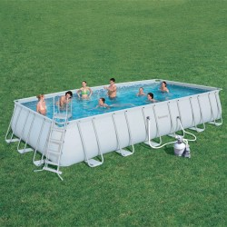 Piscine tubulaire solide structure acier galvanis for Piscine tubulaire bestway