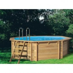 Piscine hors sol bois en pin by procopi for Piscine bois procopi