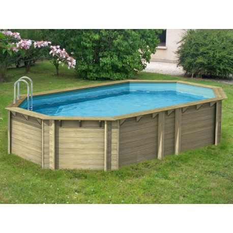 Piscine hors sol bois en pin by procopi for Piscine hors sol bois tropic