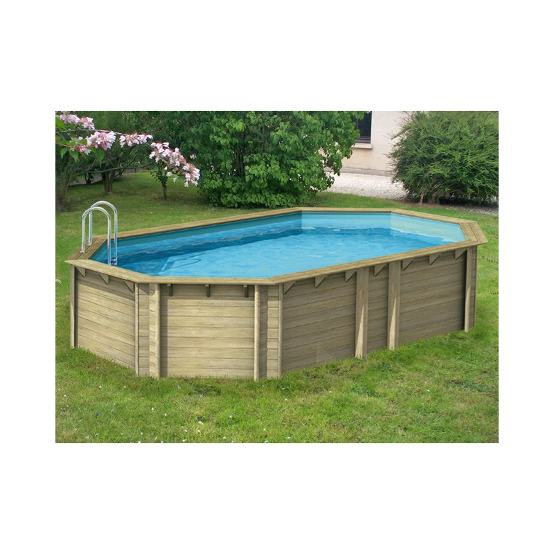 Piscine hors sol bois en pin by procopi for Piscine bois octogonale