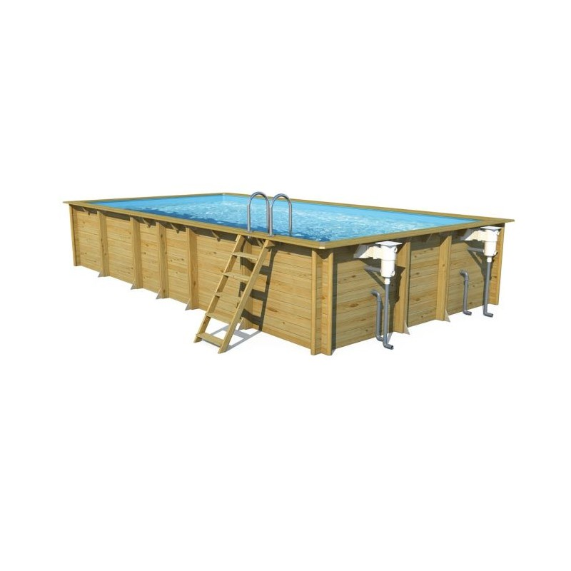 Piscine bois octogonale en pin weva 8 40m x h 1 46m a z for Piscine weva
