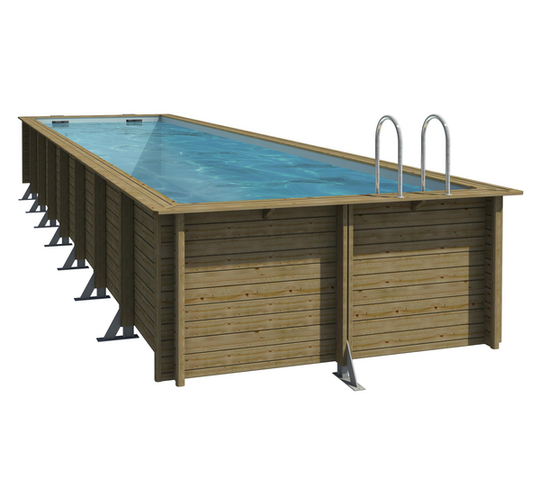 Piscine bois weva for Piscine rectangulaire bois enterree