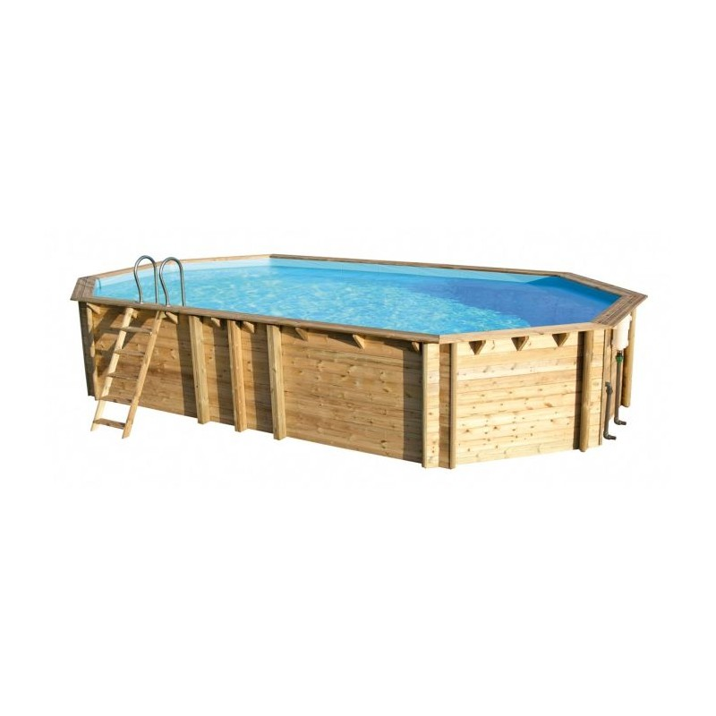 Piscine bois rectangulaire en pin weva 8m x 4m x h 1 46m for Piscine hors sol 4m de diametre