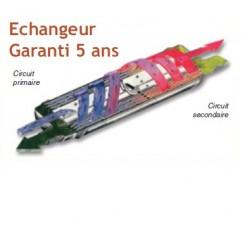 Echangeur thermique Climexel 90 kW / MK-4, nu Inox Bleu
