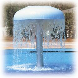 Fontaine champigon à eau Inox Ø 2000 mm 120m3/h