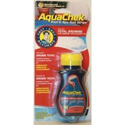 Bandelettes d'analyses Aquachek rouge 4 en 1 Brone, pH, TAC, Dureté