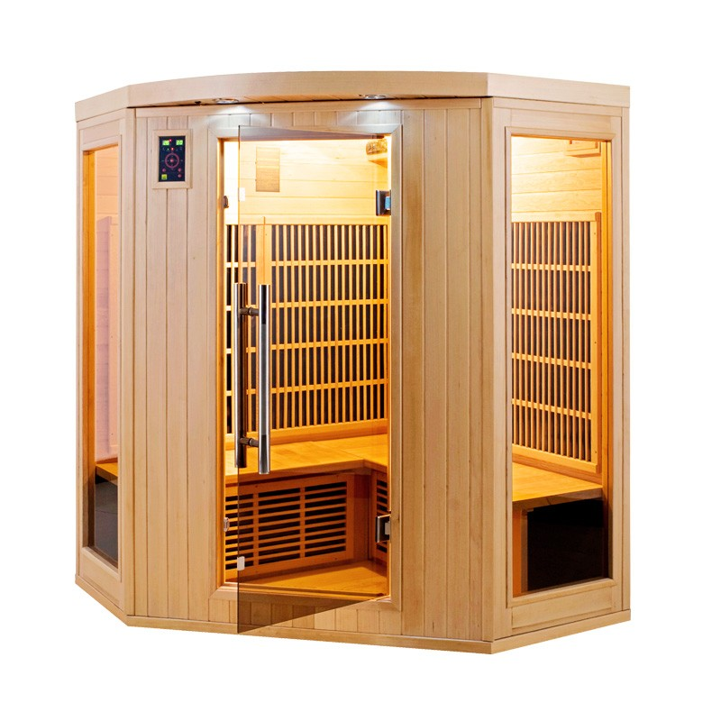 Sauna infrarouge apollon 3 4 places a z piscine - Cabine hammam places ...