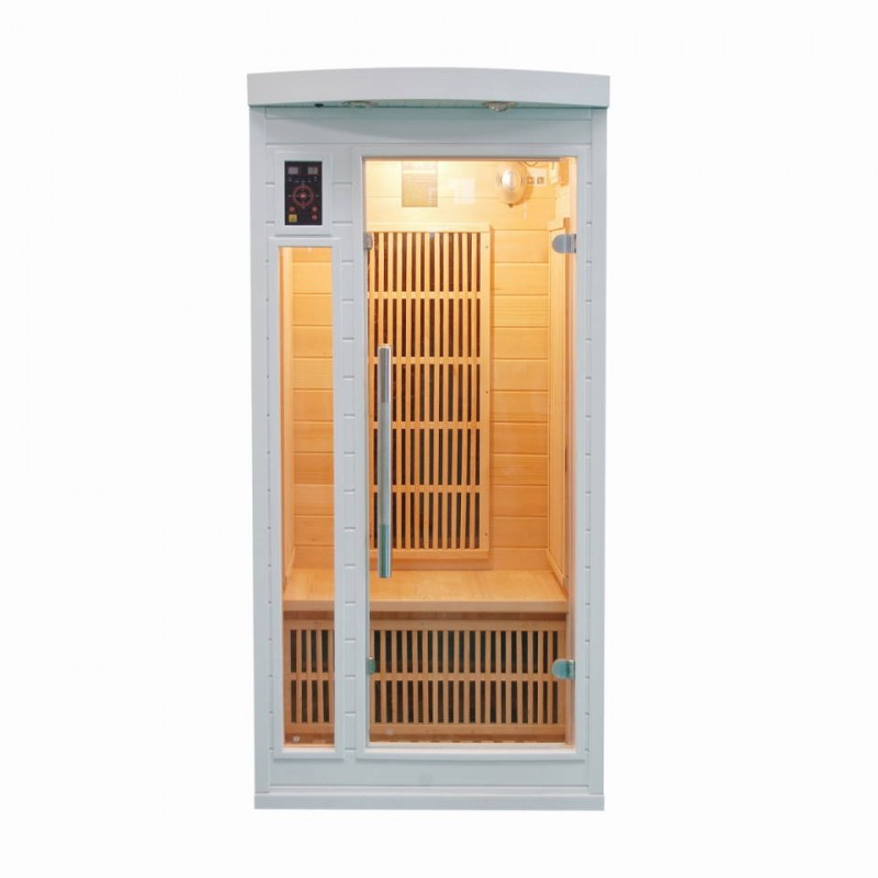 sauna infrarouge soleil blanc 1 place a z piscine. Black Bedroom Furniture Sets. Home Design Ideas