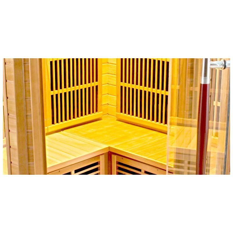 Sauna infrarouge luxe 3 4 places a z piscine - Sauna infrarouge 3 places ...