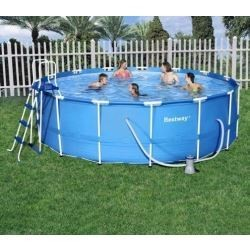 Kit Piscine Ronde Steel Pro Frame Pools Bleue Diamètre 3,66m x h 1,22m