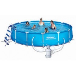 Kit Piscine Ronde Steel Pro Frame Pools  Bleue Diamètre 4,57m h 0,91cm