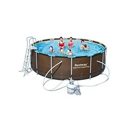 Kit Piscine Ronde Power Steel Frame Pools Diamètre 4,27m x h 1,22m