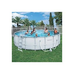 Kit Piscine Ronde Power Steel Frame Pools 5,49m x h 1,32m