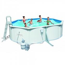 Kit Piscine Ovale Steel Wall Pool L 4,88m x l 3,66m x h 1,22m