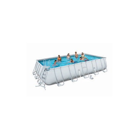 Kit Piscine Rectangulaire Power Steel Frame Pools  Longueur 6,71m x l 3,66m x h 1,32m