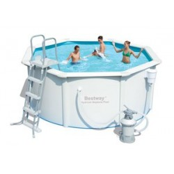 Kit Piscine Ronde Steel Wall Pool Diamètre 3,05m x h 1,22m