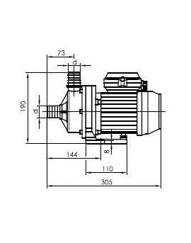 Pompe de filtration Aqua Mini 0.39 kW mono 6m3/h