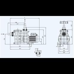 Pompe de filtration Aqua Plus 0.69 kW mono 11m3/h