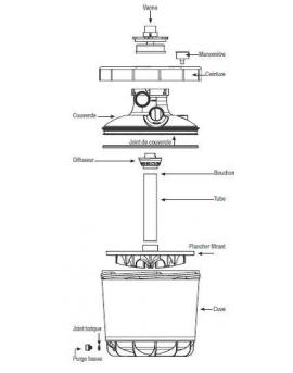 Platine de filtration Magic MGI 500 8m3/h