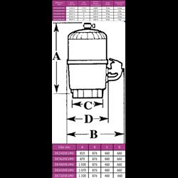 Filtre à diatomée Hayward Pro-Grid 27m3/h