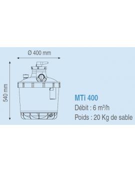 Filtre à sable Magic MTi-400 EH 6m3/h