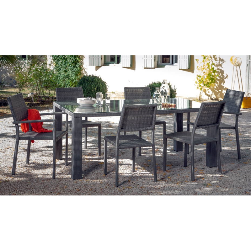 Table de jardin proloisir for Faros para jardin