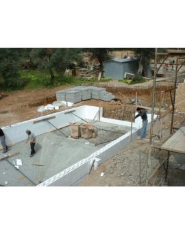 Piscine en kit Polystyrène 7x3 fond plat 1m50 avec escalier d'angle
