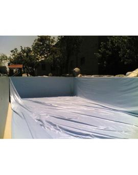 Piscine en kit Polystyrène 10x5 fond plat 1m50 avec escalier droit