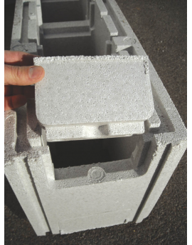 Piscine en kit Polystyrène 7x3 fond plat 1m50 avec escalier droit