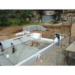Piscine en kit Polystyrène 8x4 fond plat 1m50 avec escalier droit