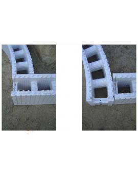 Piscine en kit Polystyrène 10x5 fond plat 1m50 sans escalier