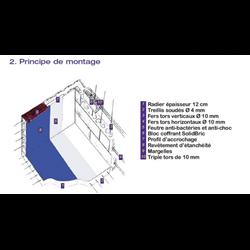 Piscine en kit Polystyrène 6x3 fond plat 1m50 sans escalier