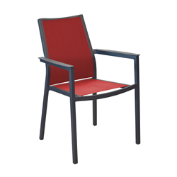 Lot de 2 fauteuils empilables Ida ALU/TPEP
